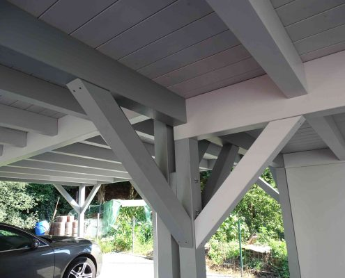 Lebenshilfe Carport Holz grau Schreinerei