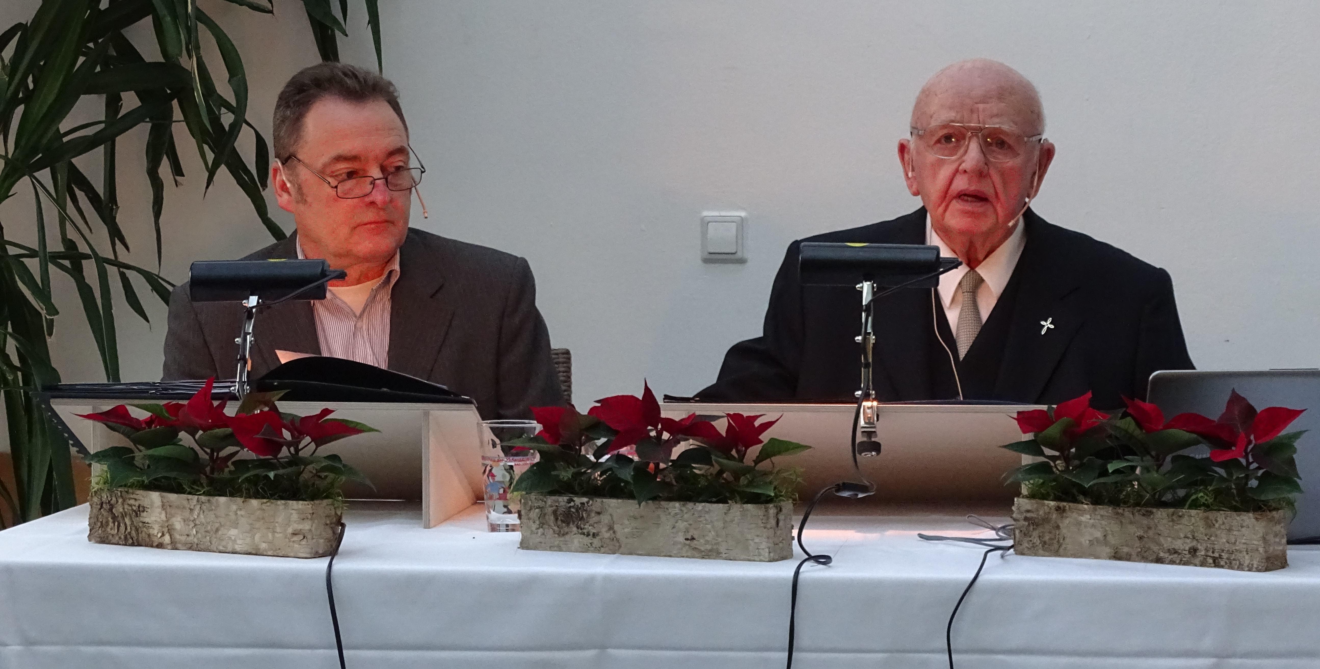 Siegmund Crämer mit Matthias Neubert 90 Geburtstag
