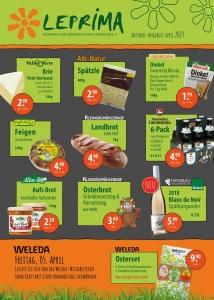 Leprima Biomarkt Flyer April Seite 1