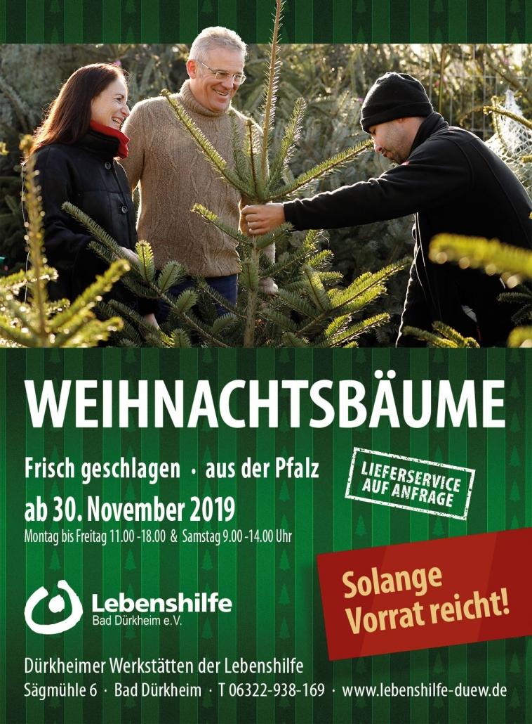 Weihnachtsbaumverkauf 2019 Lebenshilfe Bad Dürkheim